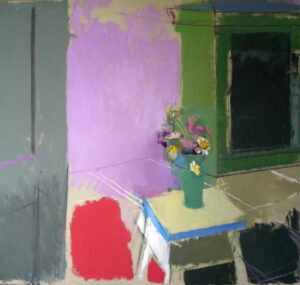 Still Life with Green Cupboard. Painting by Tony   Rothon
