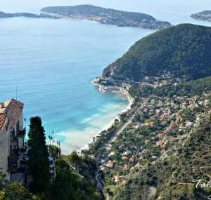 Eze-France-Coastline-view-from-Ville